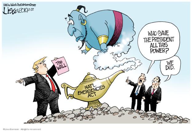 Lisa Benson  Lisa Benson's Editorial Cartoons 2019-02-22 border fence