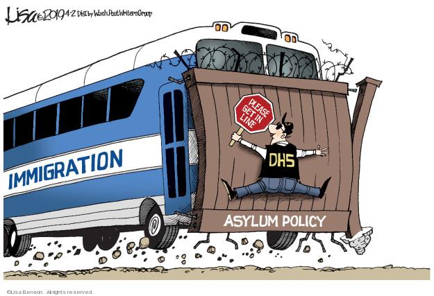 Lisa Benson  Lisa Benson's Editorial Cartoons 2019-04-02 immigration