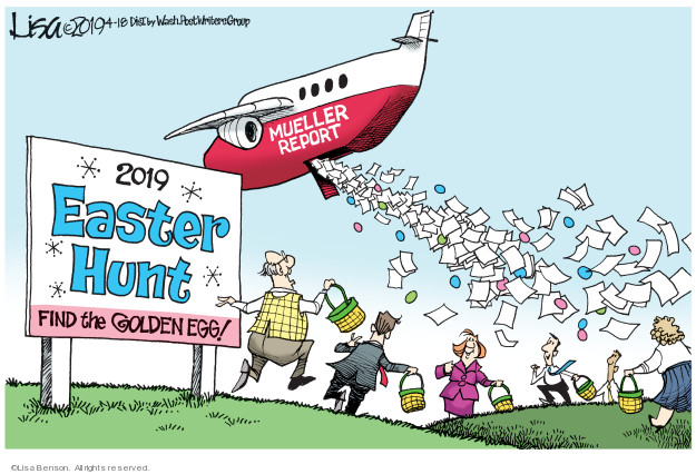 Mueller Report. 2019 Easter Hunt. Find the golden egg!