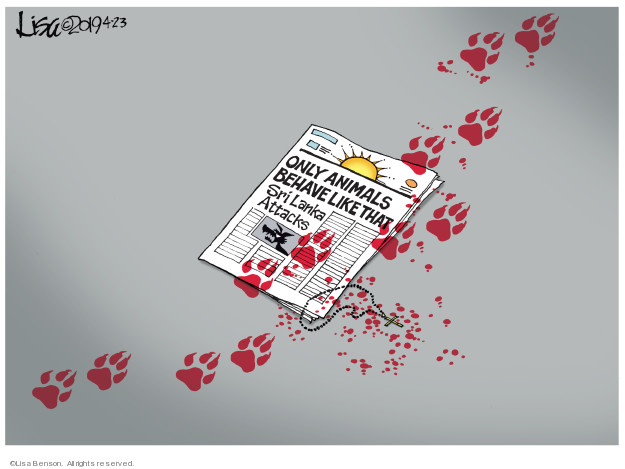 Lisa Benson  Lisa Benson's Editorial Cartoons 2019-04-23 massacre