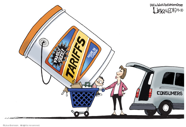 Lisa Benson  Lisa Benson's Editorial Cartoons 2019-05-10 foreign trade
