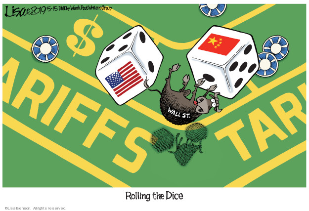 Lisa Benson  Lisa Benson's Editorial Cartoons 2019-05-15 foreign trade