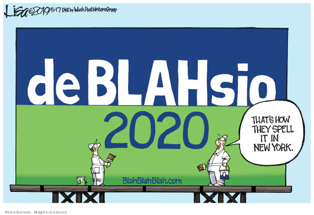 Lisa Benson  Lisa Benson's Editorial Cartoons 2019-05-17 New York City