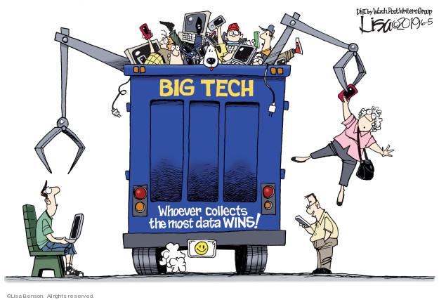 Cartoonist Lisa Benson  Lisa Benson's Editorial Cartoons 2019-06-05 technology
