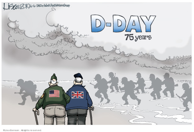 Lisa Benson  Lisa Benson's Editorial Cartoons 2019-06-06 D-Day