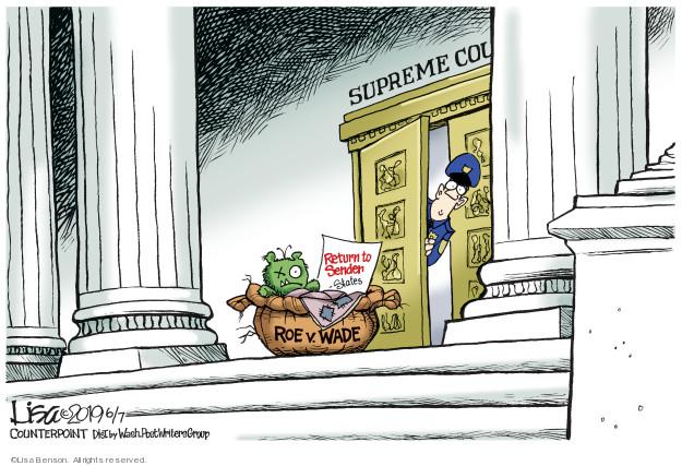 Lisa Benson  Lisa Benson's Editorial Cartoons 2019-06-07 state legislation