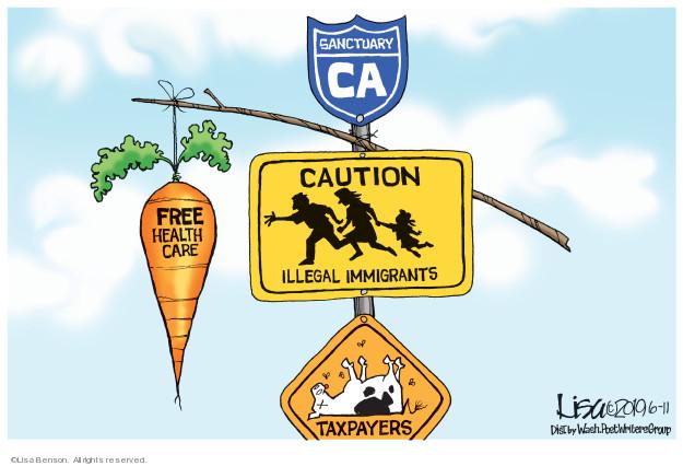 Cartoonist Lisa Benson  Lisa Benson's Editorial Cartoons 2019-06-11 immigrant