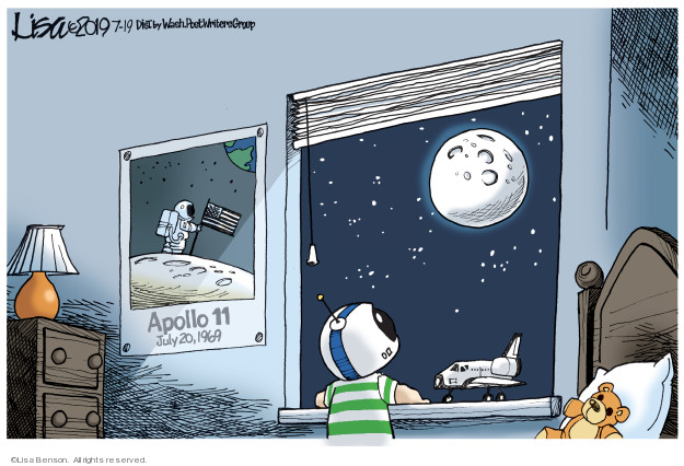 Cartoonist Lisa Benson  Lisa Benson's Editorial Cartoons 2019-07-19 NASA