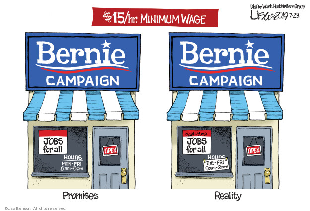 Cartoonist Lisa Benson  Lisa Benson's Editorial Cartoons 2019-07-23 employment
