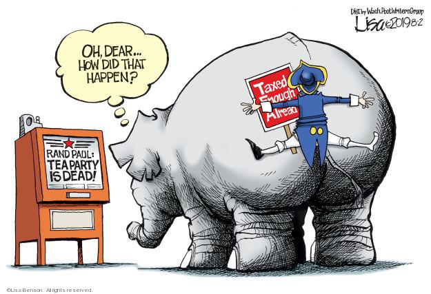 Lisa Benson  Lisa Benson's Editorial Cartoons 2019-08-02 republican