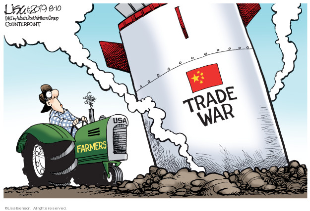 Cartoonist Lisa Benson  Lisa Benson's Editorial Cartoons 2019-08-10 international war