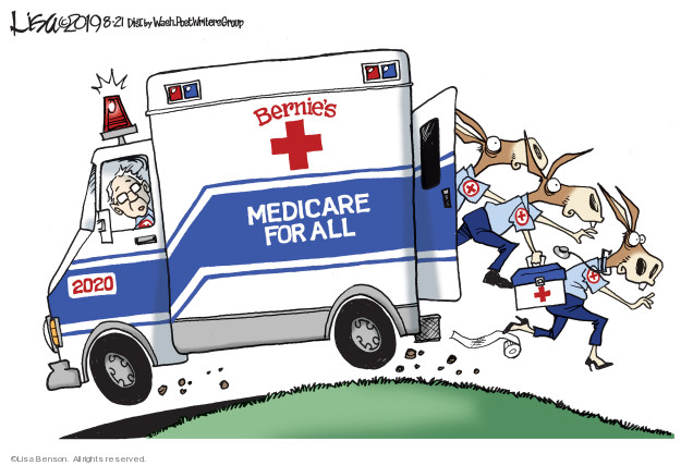Lisa Benson  Lisa Benson's Editorial Cartoons 2019-08-21 Bernie Sanders