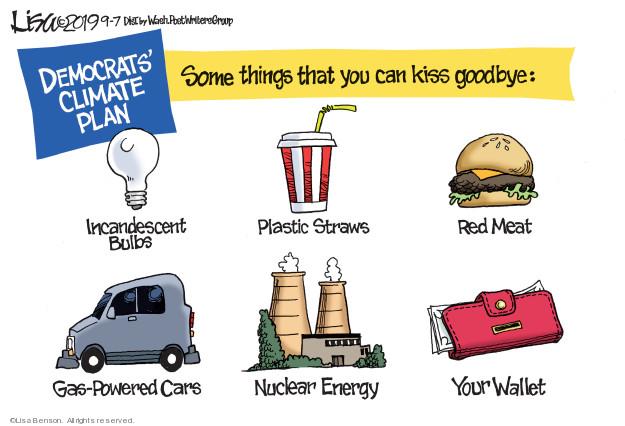 Cartoonist Lisa Benson  Lisa Benson's Editorial Cartoons 2019-09-07 plan