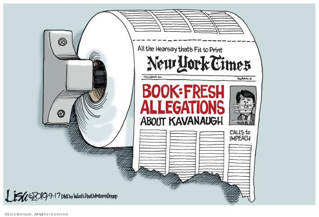 Cartoonist Lisa Benson  Lisa Benson's Editorial Cartoons 2019-09-17 investigation
