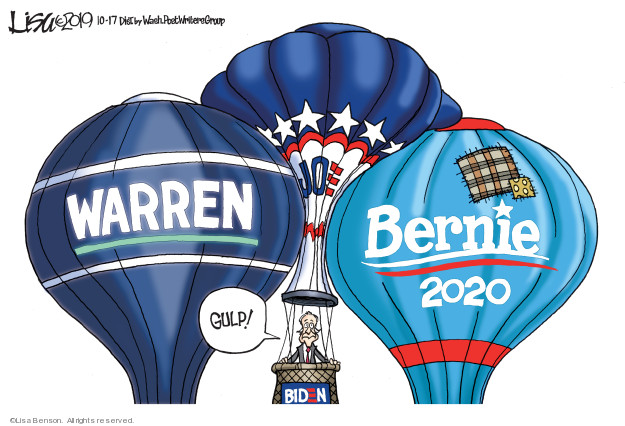 Cartoonist Lisa Benson  Lisa Benson's Editorial Cartoons 2019-10-17 candidate