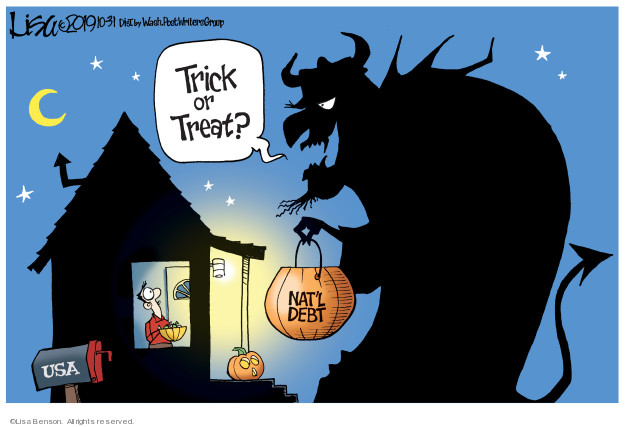 Cartoonist Lisa Benson  Lisa Benson's Editorial Cartoons 2019-10-31 costume