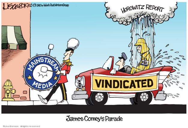 Cartoonist Lisa Benson  Lisa Benson's Editorial Cartoons 2019-12-13 investigation