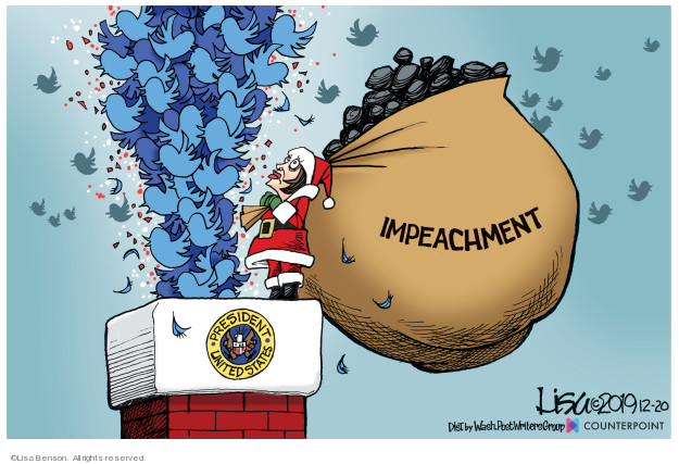 Cartoonist Lisa Benson  Lisa Benson's Editorial Cartoons 2019-12-20 impeach