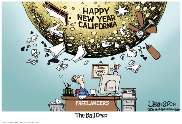 Cartoonist Lisa Benson  Lisa Benson's Editorial Cartoons 2020-01-01 happy