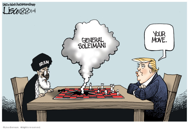 Cartoonist Lisa Benson  Lisa Benson's Editorial Cartoons 2020-01-04 international war