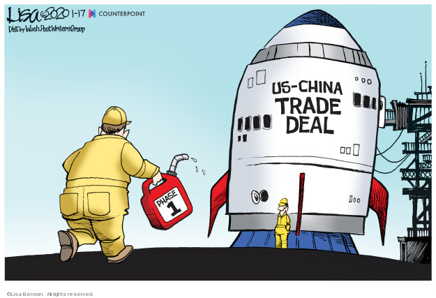 Lisa Benson  Lisa Benson's Editorial Cartoons 2020-01-17 foreign trade