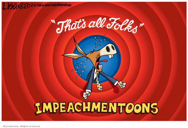 Cartoonist Lisa Benson  Lisa Benson's Editorial Cartoons 2020-02-06 impeach