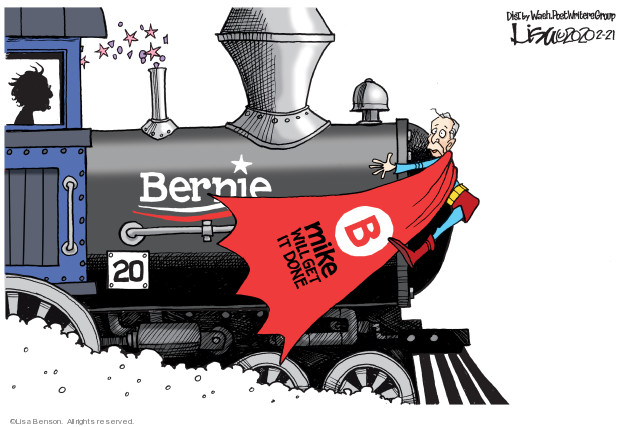 Cartoonist Lisa Benson  Lisa Benson's Editorial Cartoons 2020-02-21 2020 election
