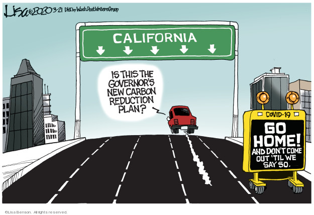 Lisa Benson  Lisa Benson's Editorial Cartoons 2020-03-21 California