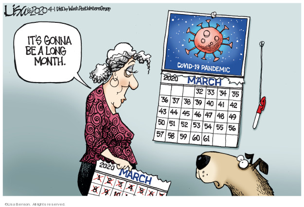 Cartoonist Lisa Benson  Lisa Benson's Editorial Cartoons 2020-04-01 pandemic