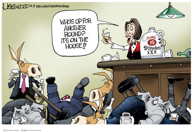 Cartoonist Lisa Benson  Lisa Benson's Editorial Cartoons 2020-04-02 leader