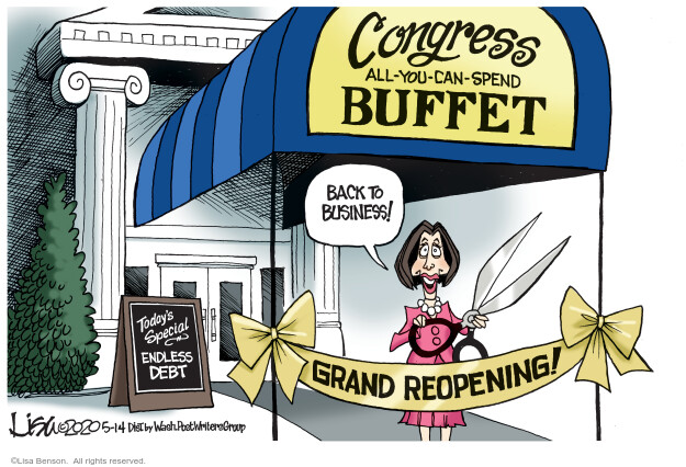 Cartoonist Lisa Benson  Lisa Benson's Editorial Cartoons 2020-05-14 Congress