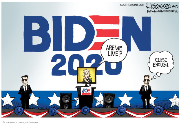 Lisa Benson  Lisa Benson's Editorial Cartoons 2020-09-15 2020 election