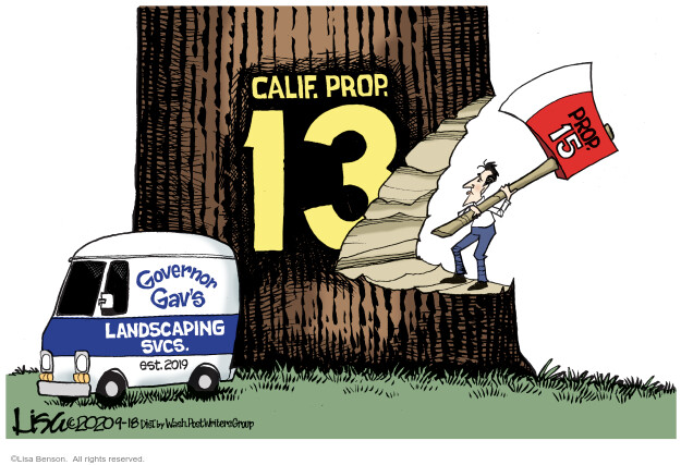 Lisa Benson  Lisa Benson's Editorial Cartoons 2020-09-19 California election