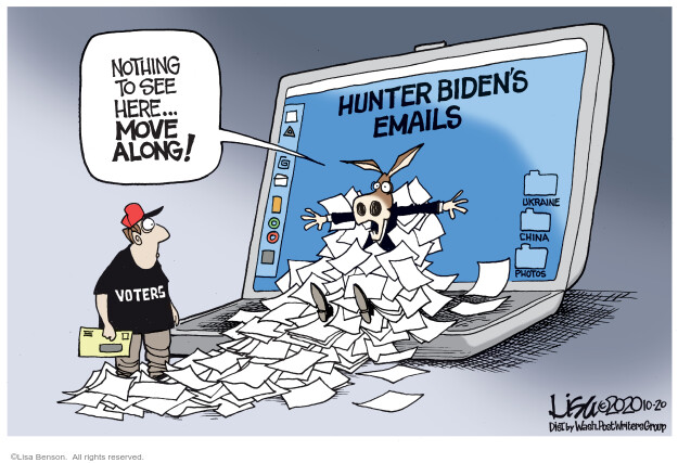 Lisa Benson  Lisa Benson's Editorial Cartoons 2020-10-20 voter