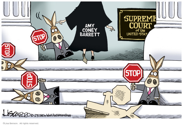 Lisa Benson  Lisa Benson's Editorial Cartoons 2020-10-23 Supreme Court