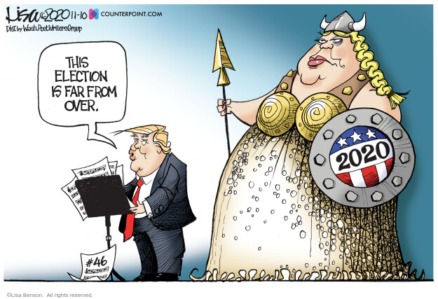 Lisa Benson  Lisa Benson's Editorial Cartoons 2020-11-10 Donald Trump