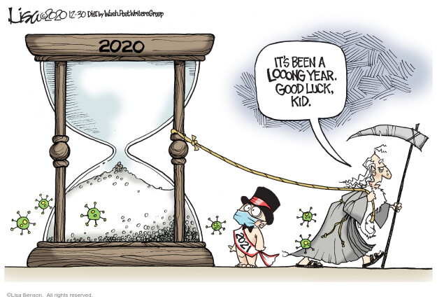 Lisa Benson  Lisa Benson's Editorial Cartoons 2020-12-30 baby new year