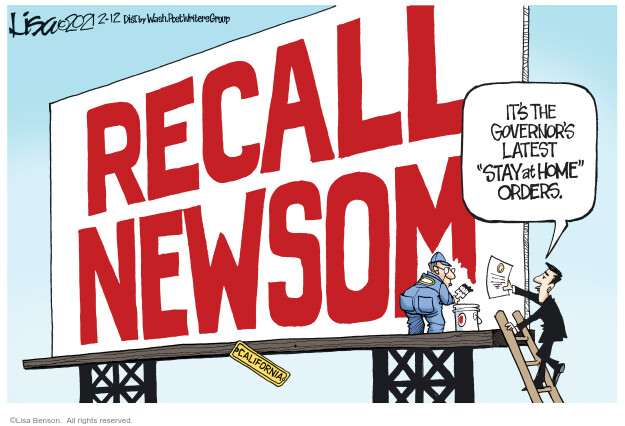 Lisa Benson  Lisa Benson's Editorial Cartoons 2021-02-12 election