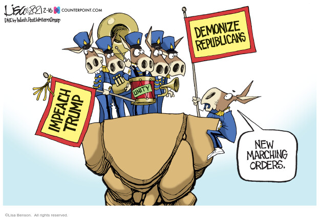 Lisa Benson  Lisa Benson's Editorial Cartoons 2021-02-16 GOP