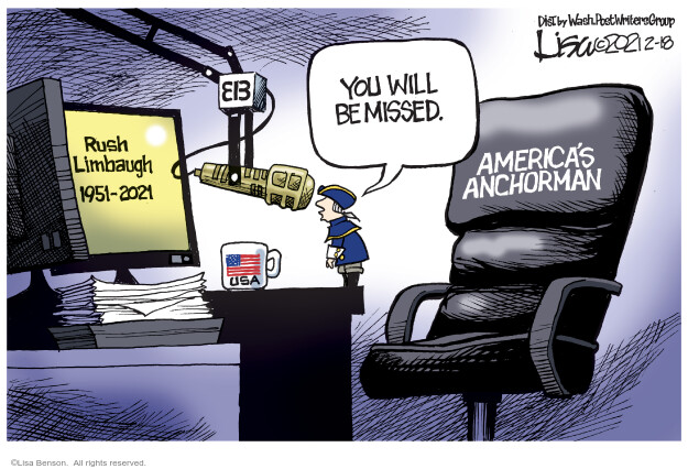 Lisa Benson  Lisa Benson's Editorial Cartoons 2021-02-18 death