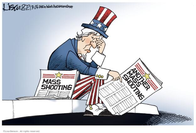 Lisa Benson  Lisa Benson's Editorial Cartoons 2021-03-24 gun violence