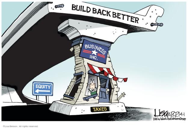 Lisa Benson  Lisa Benson's Editorial Cartoons 2021-04-01 infrastructure
