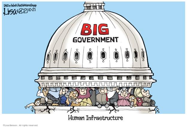 Lisa Benson  Lisa Benson's Editorial Cartoons 2021-10-21 infrastructure