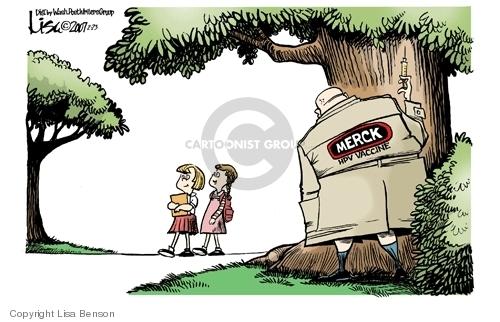 Cartoonist Lisa Benson  Lisa Benson's Editorial Cartoons 2007-02-23 pharmaceutical