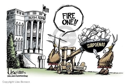 Cartoonist Lisa Benson  Lisa Benson's Editorial Cartoons 2007-03-06 Bush administration