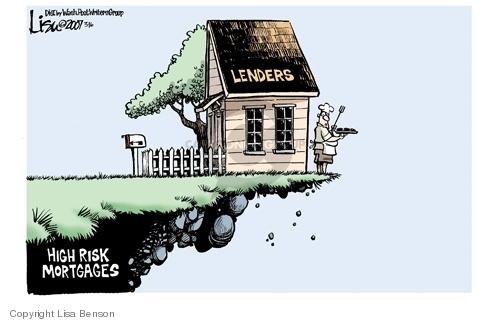 Lisa Benson  Lisa Benson's Editorial Cartoons 2007-03-16 mortgage