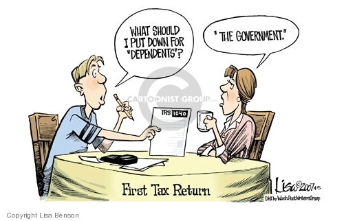 Lisa Benson  Lisa Benson's Editorial Cartoons 2007-04-05 tax deduction