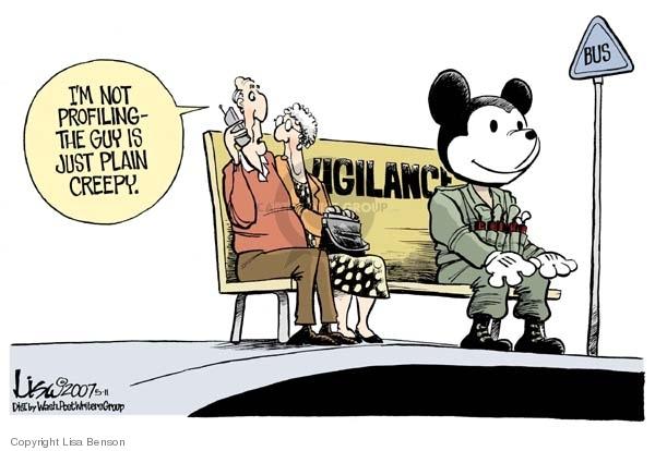 Cartoonist Lisa Benson  Lisa Benson's Editorial Cartoons 2007-05-11 homeland defense