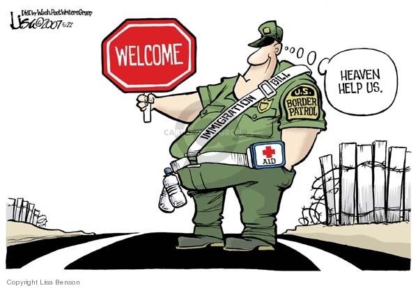 Lisa Benson  Lisa Benson's Editorial Cartoons 2007-05-22 immigration bill