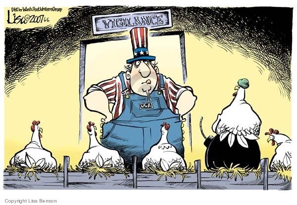 Cartoonist Lisa Benson  Lisa Benson's Editorial Cartoons 2007-06-06 homeland defense